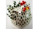 Whimsical Chicken Sculpture Green and White