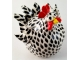 Whimsical Chicken Sculpture Black and White