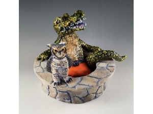 Alligator and Owl