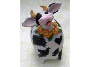 Cow with Daisies