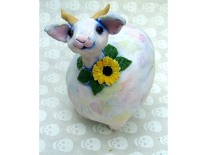Goat with Daisy
