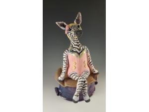 Zebra in Vintage Bathing Suit